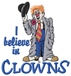 Believe In Clowns embroidery design