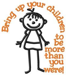 Bring Up Children embroidery design