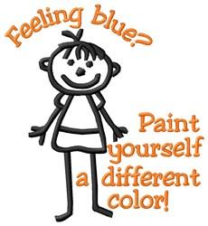 Feeling Blue embroidery design