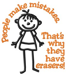 Make Mistakes embroidery design
