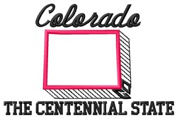 Centennial State embroidery design
