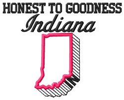 Honest Indiana embroidery design