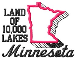 10,000 Lakes embroidery design