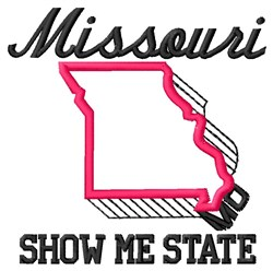 Show Me State embroidery design