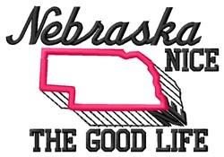 Nice Nebraska embroidery design