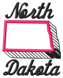 North Dakota embroidery design