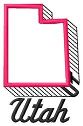 Utah embroidery design