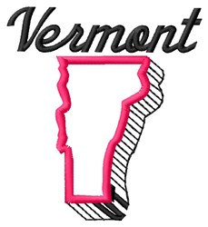 Vermont embroidery design