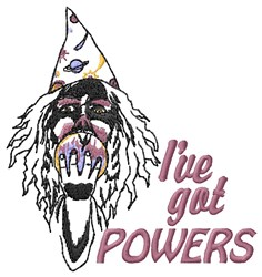 Ive Got Powers embroidery design