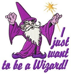 A Wizard embroidery design