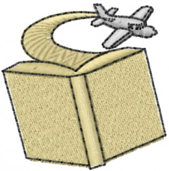 Airplane Book embroidery design