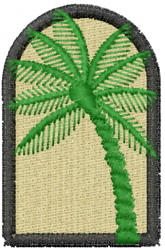 Palm embroidery design