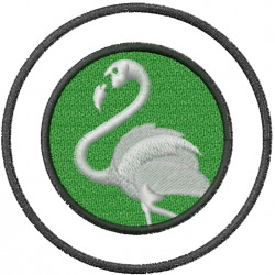 Flamingo Crest embroidery design