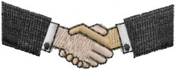 Shaking Hands embroidery design