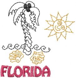 Florida embroidery design
