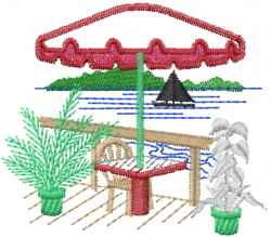 Beach Scene embroidery design