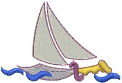 Dagger Sail Ship embroidery design