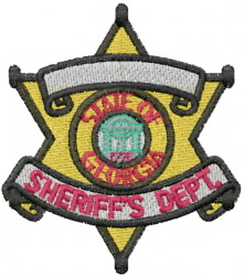 Georgia Sheriff embroidery design