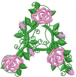 Rose Bush embroidery design