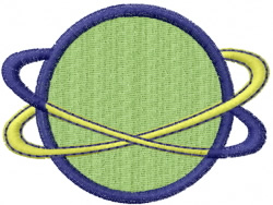 World Spinning embroidery design