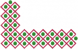 Dot Shape embroidery design