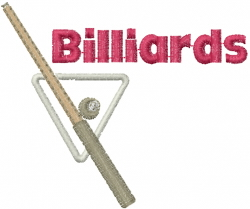 Billiards embroidery design