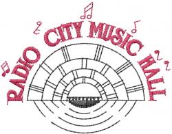 Radio City Music Hall embroidery design