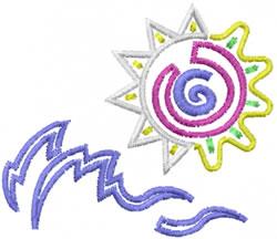 Summer Scene embroidery design