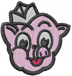 Pig Face embroidery design
