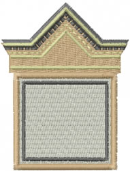 Roofed Box embroidery design