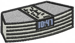 Clock Radio embroidery design