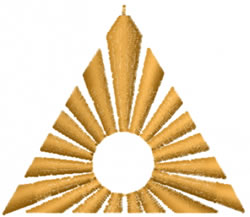Sun Triangle embroidery design