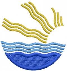 Water Sun Icon embroidery design