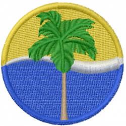 Palm Icon embroidery design