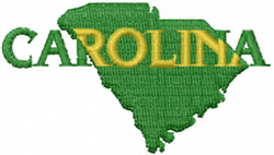 South Carolina embroidery design