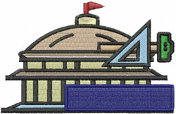 Art Building embroidery design