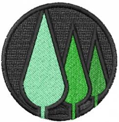 Tree Logo embroidery design