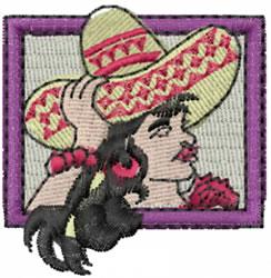 Hispanic Girl embroidery design
