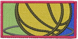 Basketball Icon embroidery design