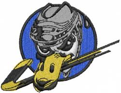 Hockey Duck embroidery design