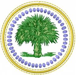 Palm Circle embroidery design