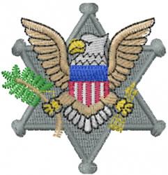 Eagle Badge embroidery design