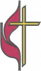 Methodist Symbol embroidery design