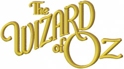 The Wizard Of Oz embroidery design