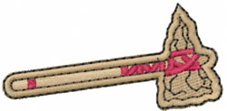 Indian Hatchet embroidery design