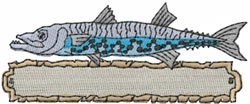 Barracuda embroidery design