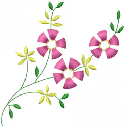 Little Flowers embroidery design