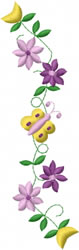 Butterfly Floral Design embroidery design