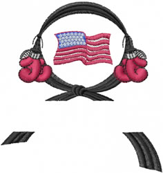 American Black Belt embroidery design