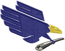 Eagle Delivery embroidery design